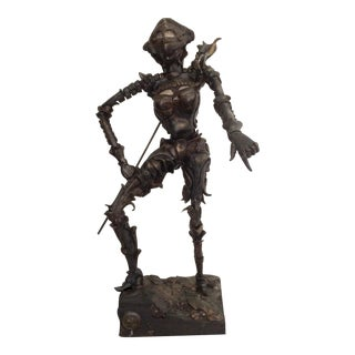 "Horacio Bustos ""female Warrior"" Sculpture For Sale"