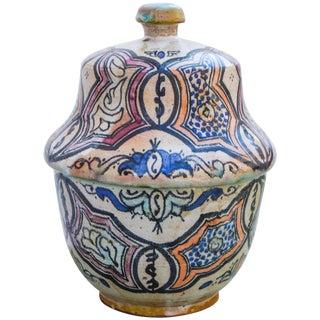 Fine Moorish-Patterned Ceramic Box For Sale