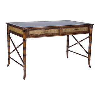 Chinoiserie David Francis Mahogany Writing Desk For Sale