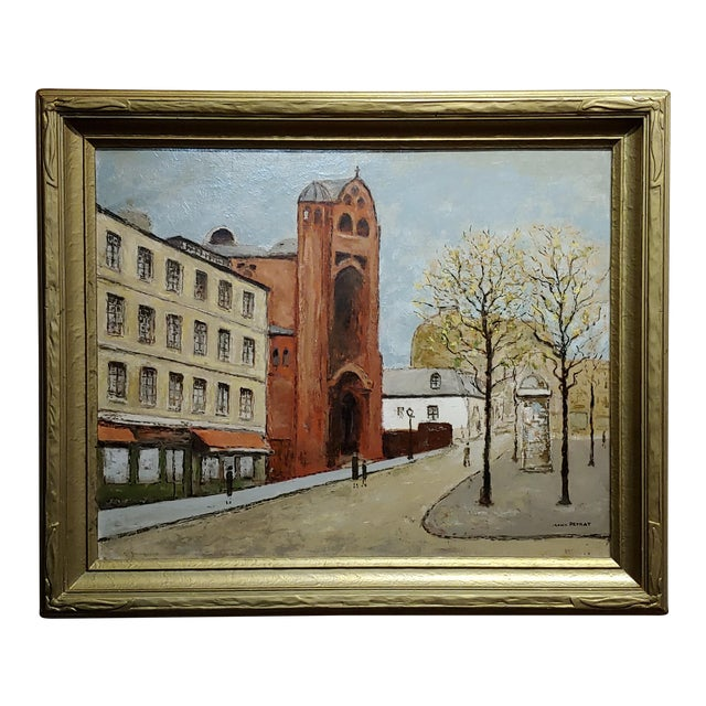 Louis Peyrat -Paris Street Scene - Oil Painting For Sale