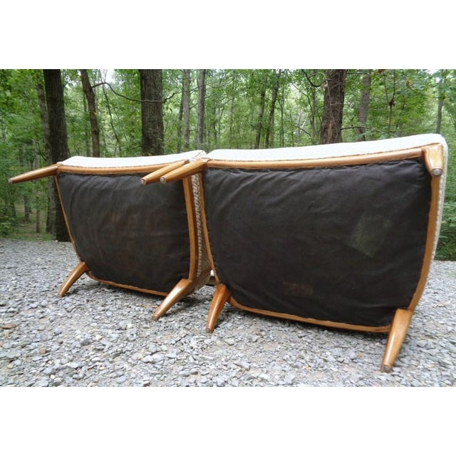 Mid Century Tomlinson Sophisticate Slipper Chairs ~ a Pair For Sale - Image 12 of 13
