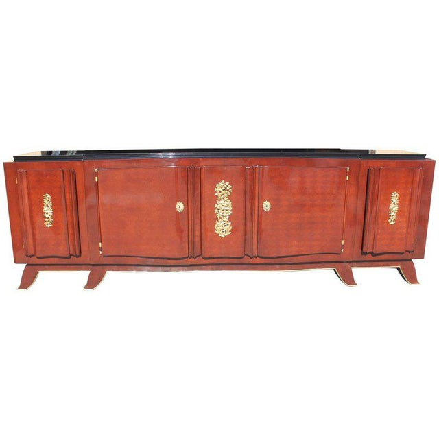 1930s French Art Deco Jules Leleu Rosewood Sideboard For Sale - Image 11 of 11