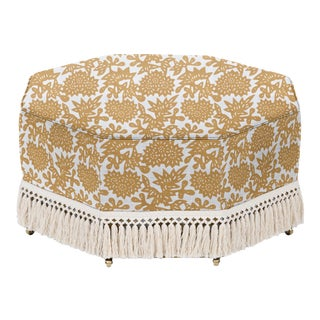 LuRu Home for Casa Cosima Istanbul Cocktail Ottoman, Flower, Cumin For Sale