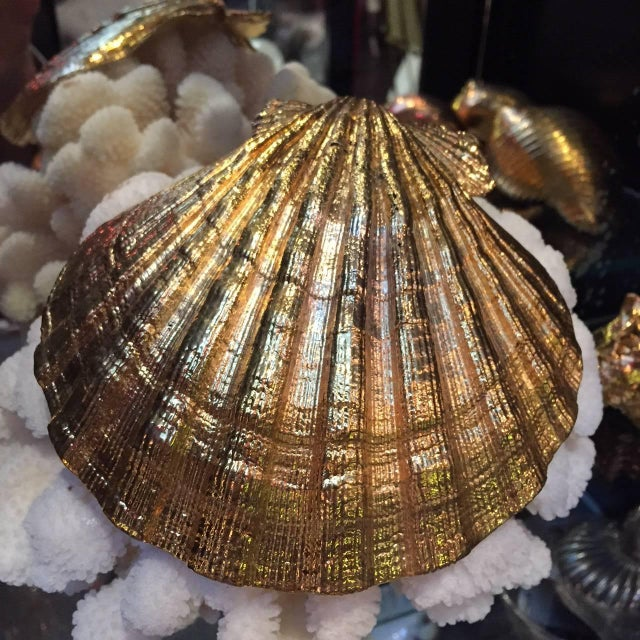 Creel and Gow Gold-Plated Pecten Shell, Symbol of Pilgrims & of Emblem of James For Sale In New York - Image 6 of 7