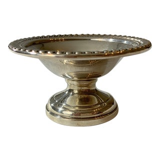 1960s Arrowsmith Sterling Silver Footed Compote Dish For Sale