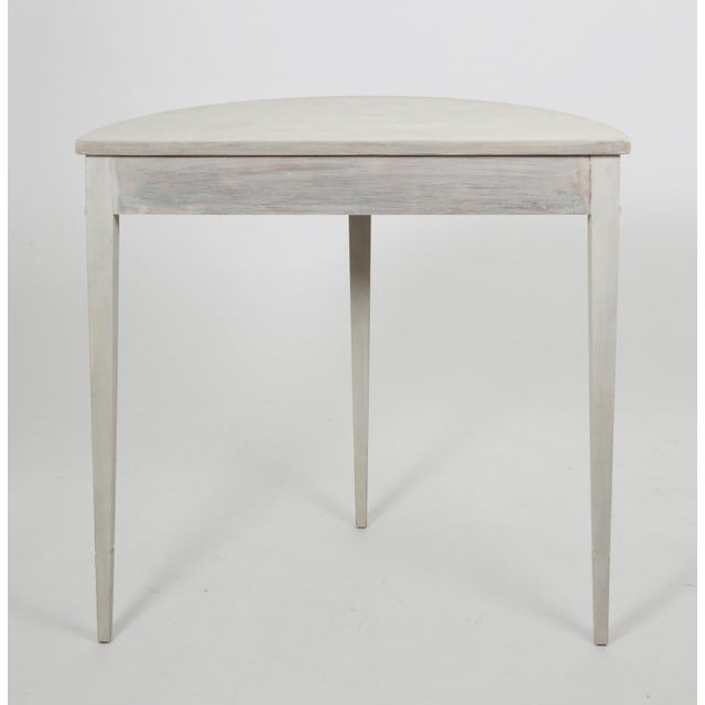 20th Century Gustavian Demi Lune Table For Sale - Image 4 of 6