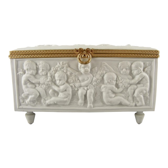 Limoges France White Bisque Dresser Box - Image 1 of 10