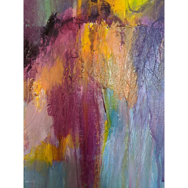 Coral Fantasy Colorful Abstract Painting For Sale - Image 4 of 4