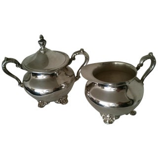 Silverplate Cream & Sugar For Sale