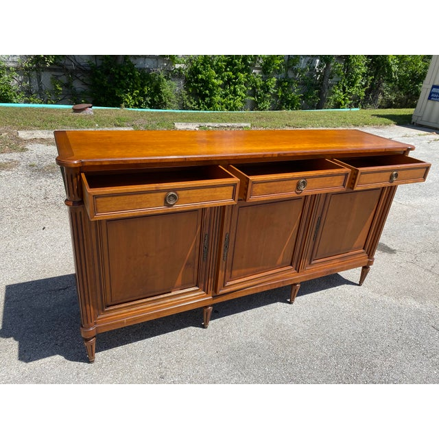 French Louis XVI Style Fruitwood Sideboard For Sale - Image 4 of 11