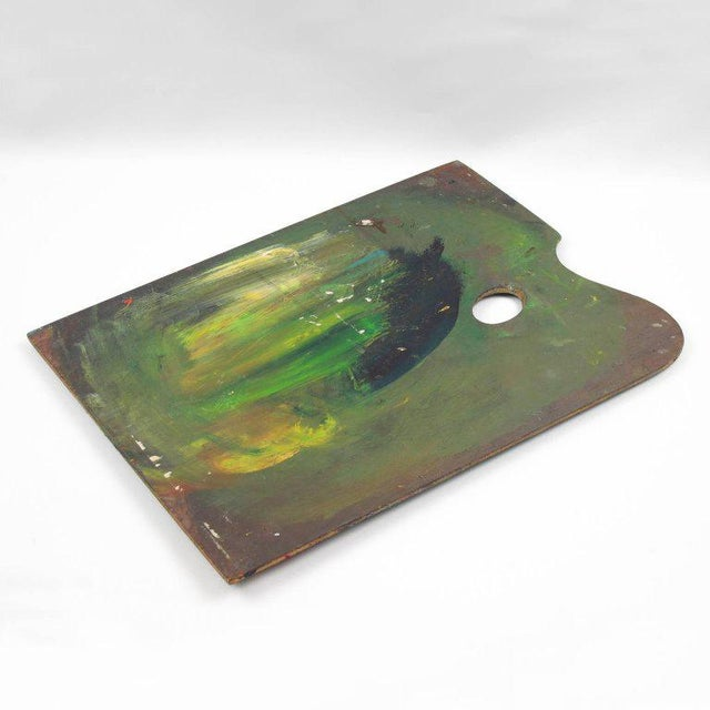 Mid-Century French Artist Painter Wood Paint Palette For Sale - Image 4 of 6