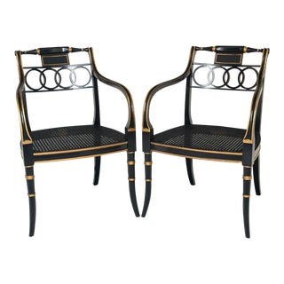 Baker Governor Alston Arm Chairs - a Pair For Sale