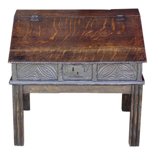 Antique Oak Apothecary Box For Sale