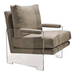 Claridge Transparent Acrylic Lounge Chair For Sale