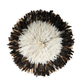 Dark Brown & White Large Juju Hat For Sale