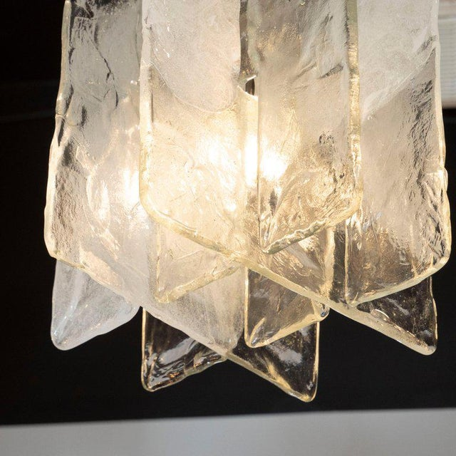 Mazzega Murano Mid-Century Modern Handblown Glass Interlocking Chandelier by Mazzega For Sale - Image 4 of 10