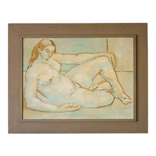 Mid-Century Impressionist Matisse Style Female Nude Painting For Sale