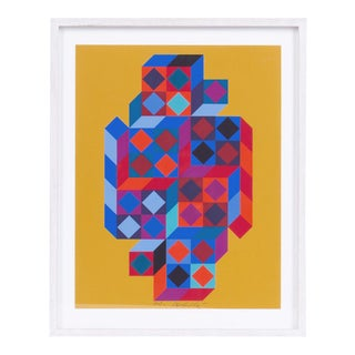 Victor Vasarely Serigraph For Sale
