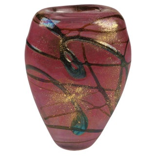 Signed Luzoro Vase by Michele Luzoro For Sale