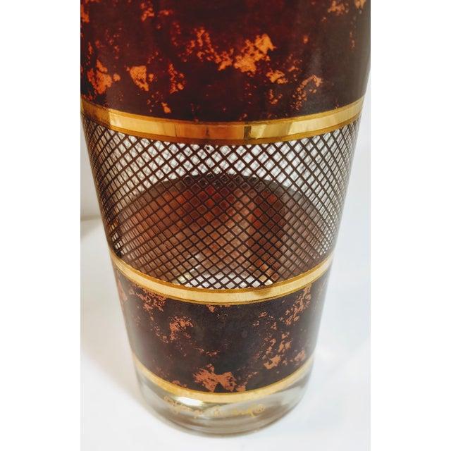 Vintage Georges Briard Tortoiseshell Lattice Design Highball Glasses - Set of 6 For Sale In Oklahoma City - Image 6 of 8
