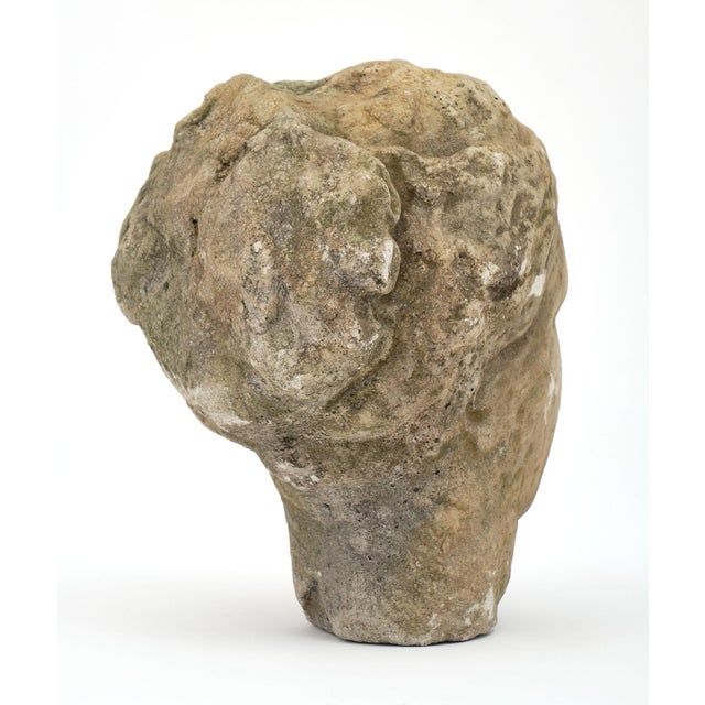 Stone Antique Stone Bust of Greek Goddess Athena For Sale - Image 7 of 10
