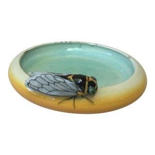 1920s Majolica Cicada Vide Poches by Jerome Massier Fils For Sale