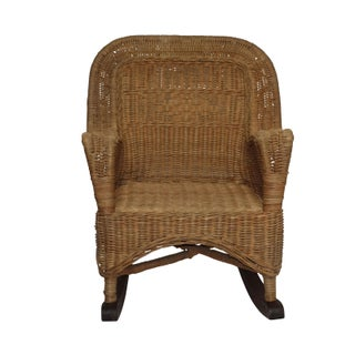Victorian Child Size Wicker Rocking Chair, American 19th Century Preview
