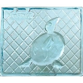 1964 Vintage Max Ernst and Egidio Costantini for Fucina Degli Angeli Glass Tile For Sale