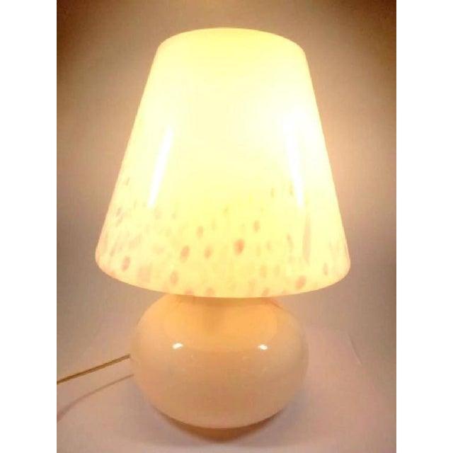 Funfetti Murano Art Glass Mushroom Lamp For Sale In West Palm - Image 6 of 6