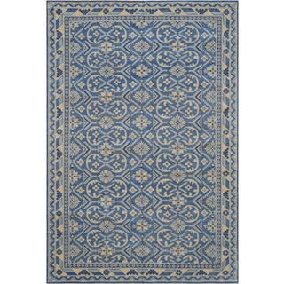 """Traditional Mansour Genuine Handwoven Deco Rug - 6'8"""" X 9' For Sale"""