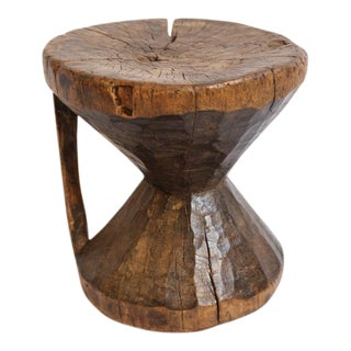 Gambia Wooden Carved Stool For Sale