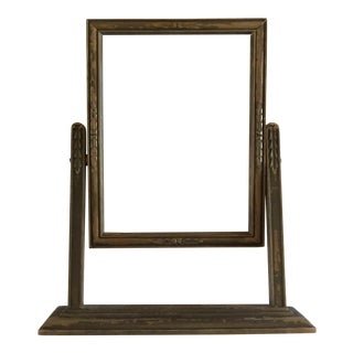 Vintage Carved Wooden Frame on Stand