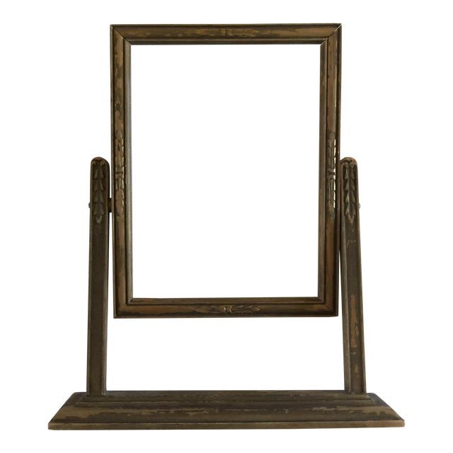 Vintage Carved Wooden Frame on Stand | Chairish