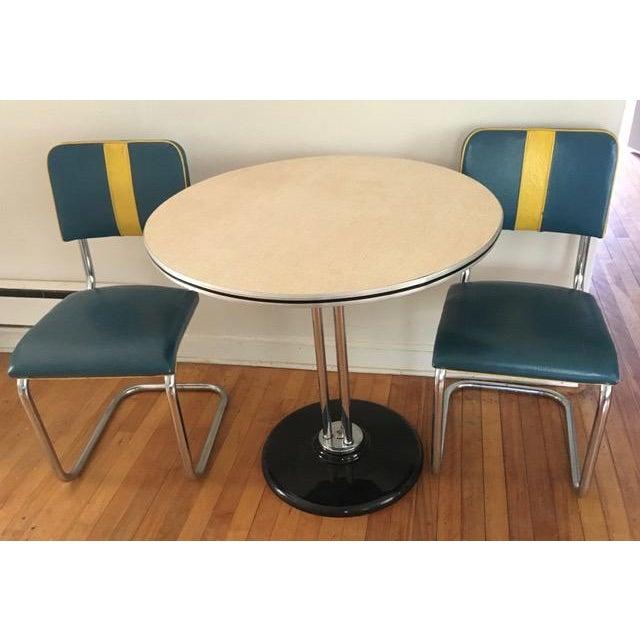 RoyalChrome Furniture Art Deco Dinette 3-Piece Set For Sale - Image 11 of 11
