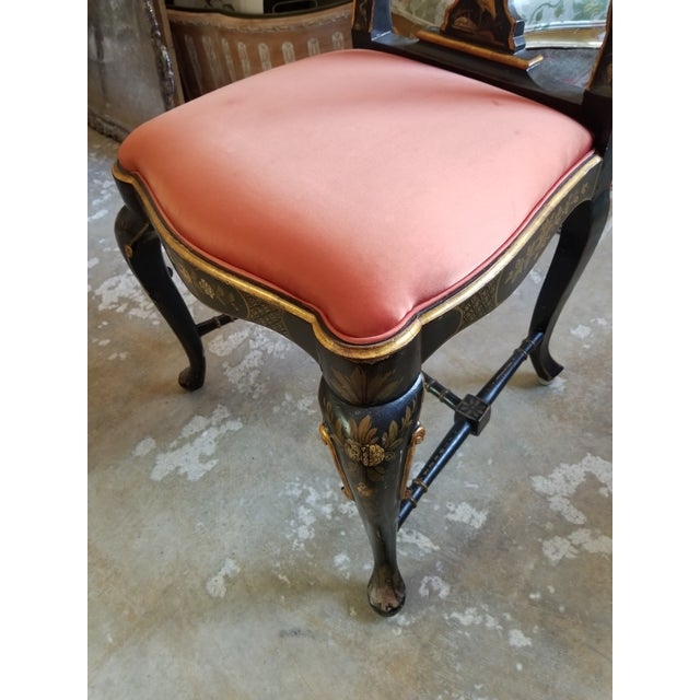 Pair of Chinoiserie Chairs For Sale - Image 4 of 12