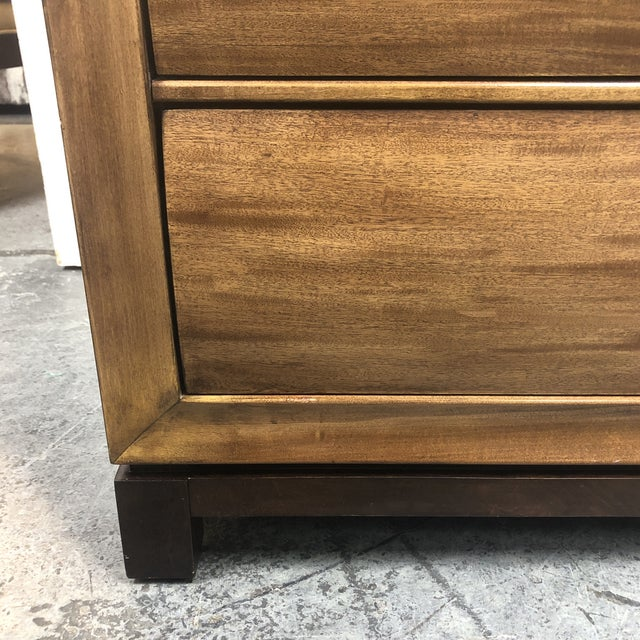 American Drew Eight Drawer Walnut Dresser For Sale In San Francisco - Image 6 of 11