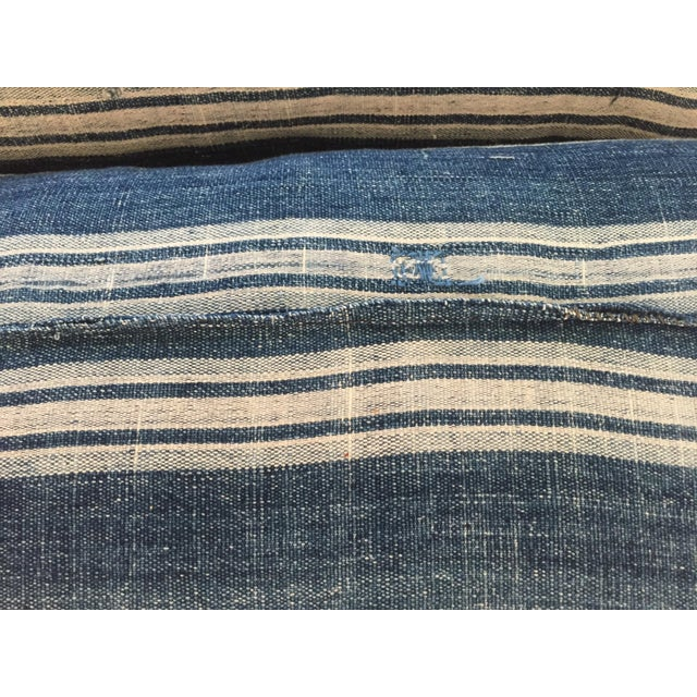 Vintage African Indigo Mud Cloth Pillows - A Pair - Image 7 of 8