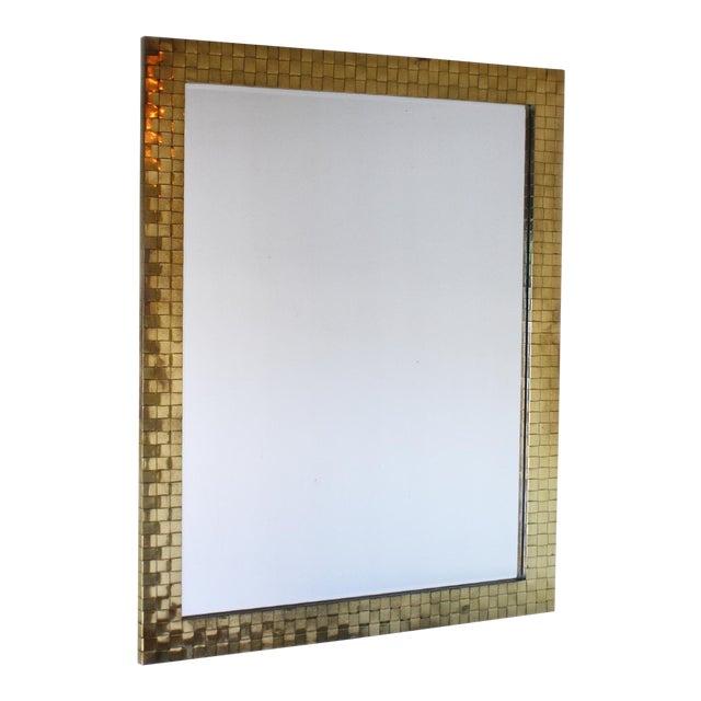 1970s Brass Woven Chapman Mirror For Sale