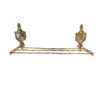 Rococo Solid Brass 3 Bar Towel Rack For Sale