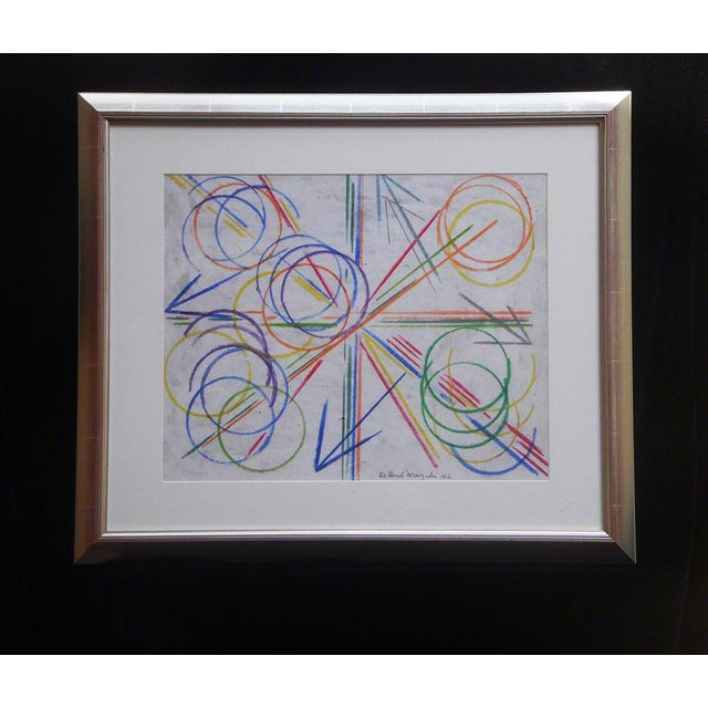 Abstract De Hirsch Margules Geometric Abstraction 1942 For Sale - Image 3 of 3