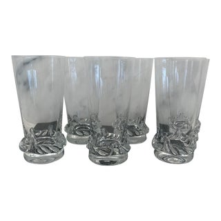 Daum French Glasses - Set of 6 For Sale