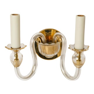 Single Murano Two-Arm Sconce For Sale