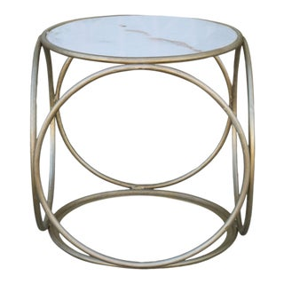 1980s Small Metal Side Table For Sale