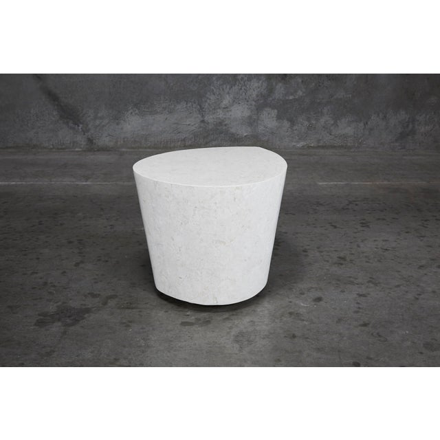 """1990s Contemporary White Freeform Tessellated Stone """"Hampton"""" Side Table For Sale In Los Angeles - Image 6 of 13"""