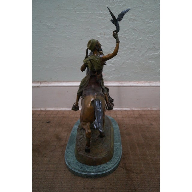 Pj Mene Large Bronze Sculpture Man Riding Horse For Sale - Image 5 of 11