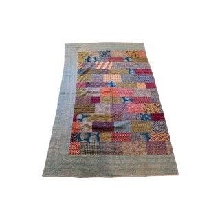 Industrial Colorful Boho Kantha For Sale