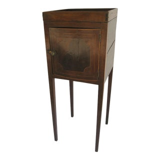 English One Door Small Gallery Top Side Table For Sale