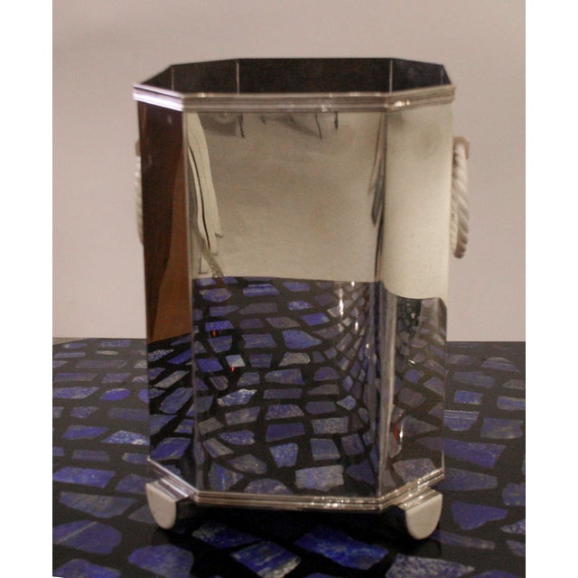 Pair Of French Art Deco (C. 1920's) Sterling Silver Wine Coolers For Sale In New York - Image 6 of 8