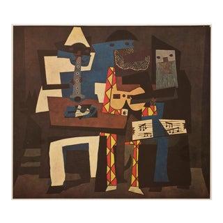Picasso Les Trois Musicien, 1971 Parisian Photogravure For Sale