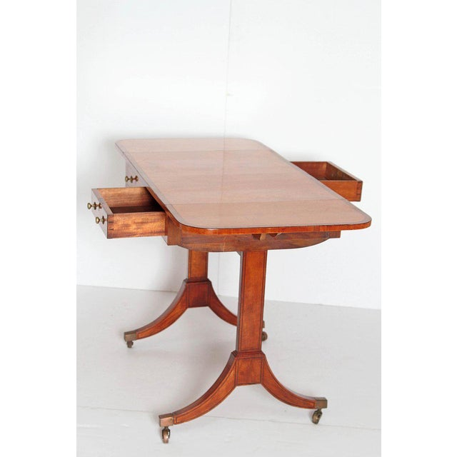 English Regency Satinwood Sofa Table For Sale - Image 10 of 13
